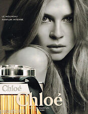 PUBLICITE ADVERTISING 065  2009  CHLOE parfum femme INTENSE  CLEMENCE POESY