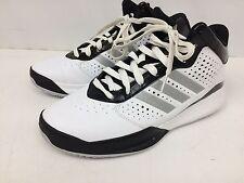 Men's Adidas Basketball Shoes Size 11.5 White/silver/black C766814 *Mint*