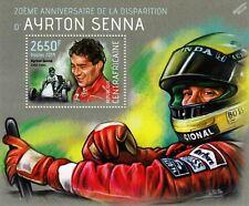 AYRTON SENNA (Go Kart) F1 GP Racing Car Driver Stamp Sheet #30 (2014 CAF)