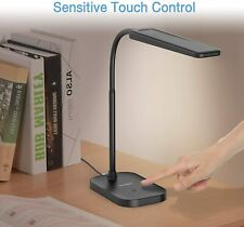 LED Desk Lamp Stepless Dimmable Flexible Table Reading...