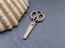Antique Bronze Scissors Charms D1 100pcs Steampunk Vintage Pendants Kitsch