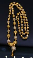 HANDMADE 22CARAT GOLD BEADS BALL NECKLACE CHAIN GORGEOUS BELLY DANCE JEWELRY