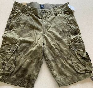 "GAP Shorts Men's Camo Cargo Pants W30"" NEW RRP US $44.95"