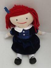 "Madeline Soft Plush Doll Velvet Satin Blue Removable Dress Gloves Yottoy 14"""