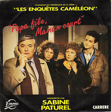 TV OST LES ENQUETES CAMELEON FRENCH 45 SINGLE