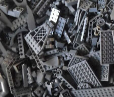 100+ DARK GRAY LEGO PIECES FROM HUGE BULK LOT BRICKS PARTS RANDOM Grey