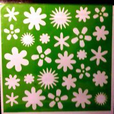 FLOWER Stencil Washable Reusable Plastic 6