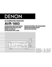 Denon AVR-1603 AV Surround Receiver Owners Manual