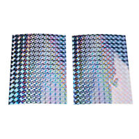 """11 3//4/"""" x 9/"""" FIREWORKS Holographic Fishing Lure Tape Sheets in 16 Colors"""
