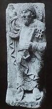 St. Peter, 12th Century French Sculpture, Moissac, Magic Lantern Glass Slide