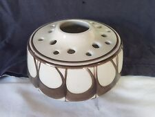 Jersey Pottery Browns on White Posy Frog Bowl 16 Hole & Large Center Hole
