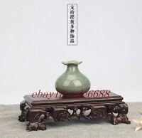 Old Solid Wood base carved Ganoderma Display stand for vase bottle teapot