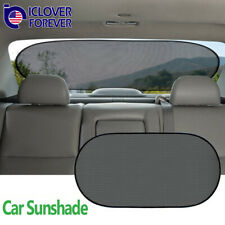 Car Back Rear Sun Shade Shield Mesh Cover Window Shade Visor UV Protection Black