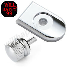 Motorcycle Chrome Knurled Seat Bolt Screw Cap Mount Knob Cover For Harley Dyna