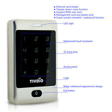 125KHz Access Controller Door Entry System Metal Touch Keypad Support Card/PIN