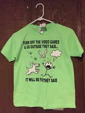 Anvil Size Youth M Short sleeve  Tshirt Video Game NWT Lime Neon Green