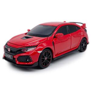 1:32 Scale Honda Civic Type R Sedan Model Car Diecast Gift Toy Vehicle Kids Red