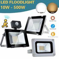 LED Flood Light Spotlight Outdoor Garden Lamp PIR Motion Sensor Warm White
