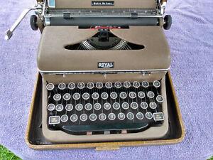 "Vintage Royal ""Quiet Deluxe"" Portable Typewriter"