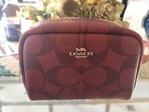 Coach C1477 IMF8Q Signature Red Mn Bxy make up bag NEW with tags