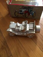 Vintage Avon Stanley Steamer Silver Car Decanter Deep Woods After Shave Cologne