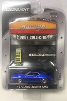 Greenlight MCG Muscle Car Garage Hobby Collection Blue 1973 AMC Javelin AMX
