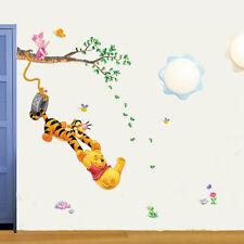 Winnie The Pooh Wall Stickers Nursery Boy kids baby Room Vinyl Art Decal Decor @