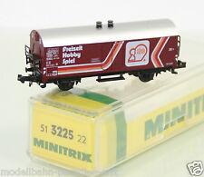 """Minitrix Spur N 3225 gedeckter Güterwagen """"Idee&Spiel"""" der DB in OVP (JL7349)"""