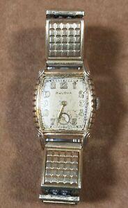 Vintage Bulova L1 – 10BM Wristwatch Watch 17 Jewels Men's – AS IS