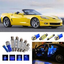 12pcs Ultra Blue Interior LED Light Kit for Chevrolet Corvette C6 2005-2013