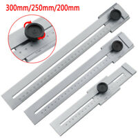 0-200mm Screw Cutting Marking Gauge Mark Scraper Tool For Woodworking Measuring
