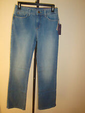 New $124 NYDJ Women's Jeans Barbara Bootcut Rayon Indigo Denim Upper Falls Sz 4