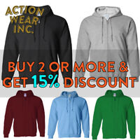 HI MENS WOMENS UNISEX PLAIN FULL ZIP UP HOODED SWEATSHIRT CASUAL ZIPPER JACKET