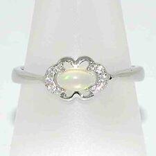 Ringe mit Opal Edelsteinen ovale echten Rhodinierte