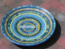 "12"" Exclusive Marble Serving Bowl Multi Precious Elegant Inlay Home Decor H4067"