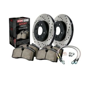 StopTech 979.33036R Sport Axle Pack, Drilled Rotor, Brake Kit For 13-16 VW CC