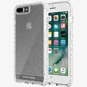 Tech21 Evo Check Active Edition Case iPhone 7/8 Plus Clear/White Black Spots New
