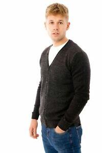 Button Up Long Sleeve Cardigan Jumper Knitted V-Neck Designer Sweater Slim Fit