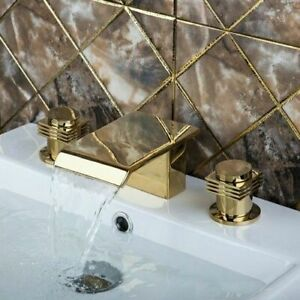 Deck Mounted Tub Filler Faucets Dual Control Contemporary Style Spout Faucet New