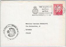 54448 -  MONACO - POSTAL HISTORY: nice SPORTS postmark on COVER: TENNIS 1989