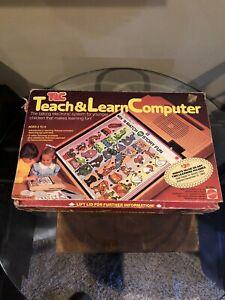 Vintage Mattel TLC Teach & Learn Computer Lot System Box