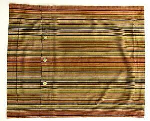 1 Crate & Barrel Suzette STANDARD Pillow SHAM 20x25 Blue Orange Green Stripe
