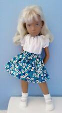 BJB Vintage Sasha doll clothes Pretty Liberty blue floral skirt + white blouse