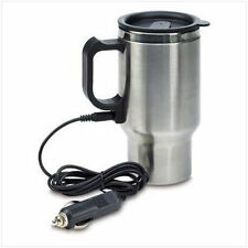 Stainless Steel Travel Mug Insulated 12V Heated Thermos Plugin Car Charger