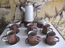 service à café vintage 1980 grès paysan origine Japon