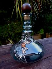 Glass Bottle with handmade metal decoration beautiful craft design very unique 2