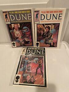 DUNE LIMITED SERIES #1-3 COMPLETE SET 1985 MARVEL COMICS