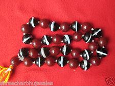 Original Islamic Genuine Baltic Rare Black & Red Mix Turkish Kerba Prayer Tasbih