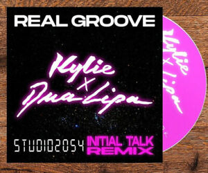 Real Groove INITIAL TALK Studio 2054 Remix Promo CD by Kylie Minogue & Dua Lipa