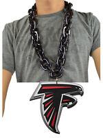 New NFL Atlanta Falcons BLACK Fan Chain Necklace Foam Magnet - 2 in 1